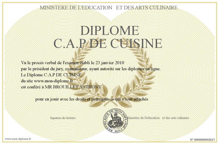 Cap de cuisine preuve crite de la mairie de paris for Vae cap cuisine