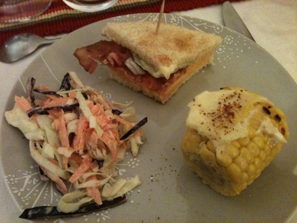 les entrées du repas de thanksgiving