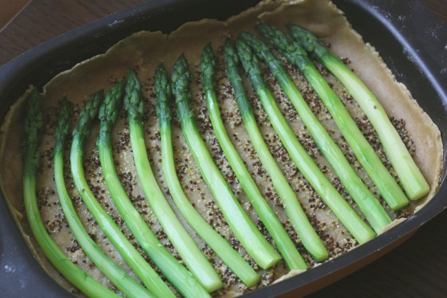 Blog de cuisine Over-Cookée; quiche aux asperges
