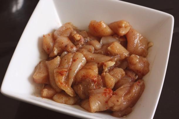 Poulet mariné sauce soja et miel
