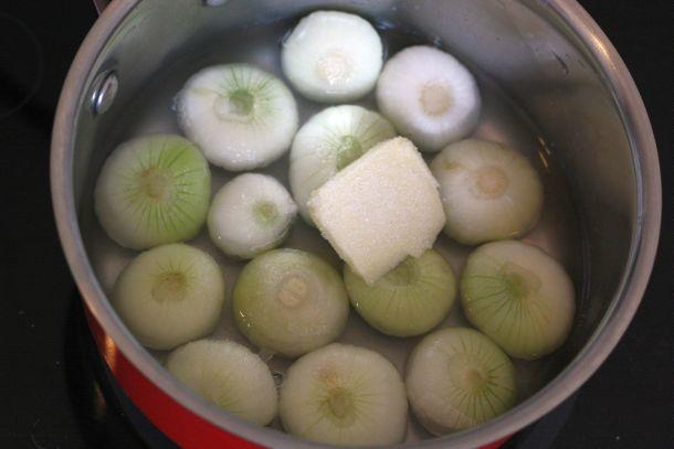 technique de cuisson des légumes : oignons glacés