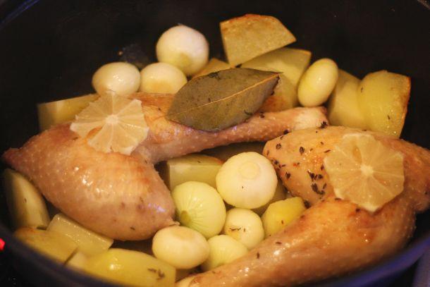 Poulet en cocotte, recette facile d'un blog de cuisine