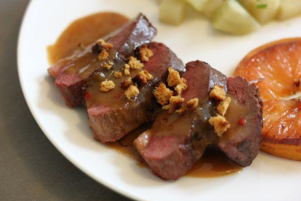 Magret de canard sauce pamplemousse et pain d 39 pices - Magret de canard noel ...