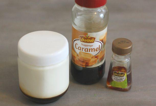 Recette de yaourt vanille et caramel