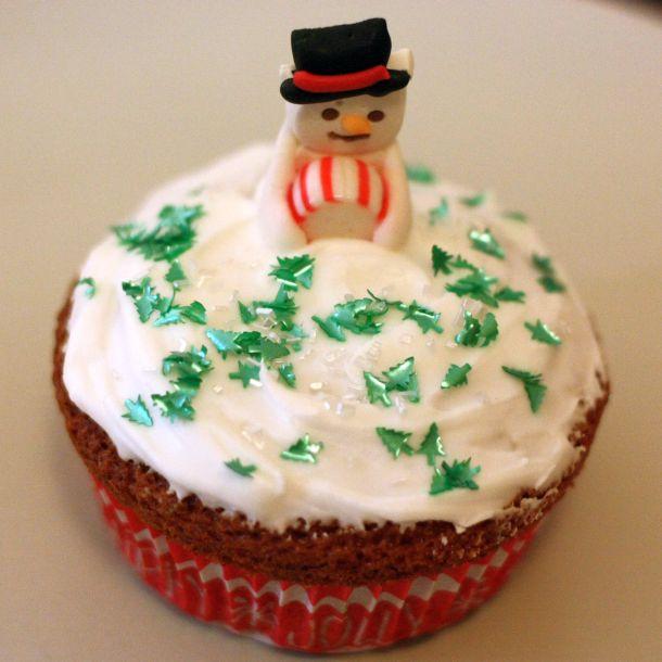 Cupcake Bonhomme de neige blog de cuisine Over-Cookée