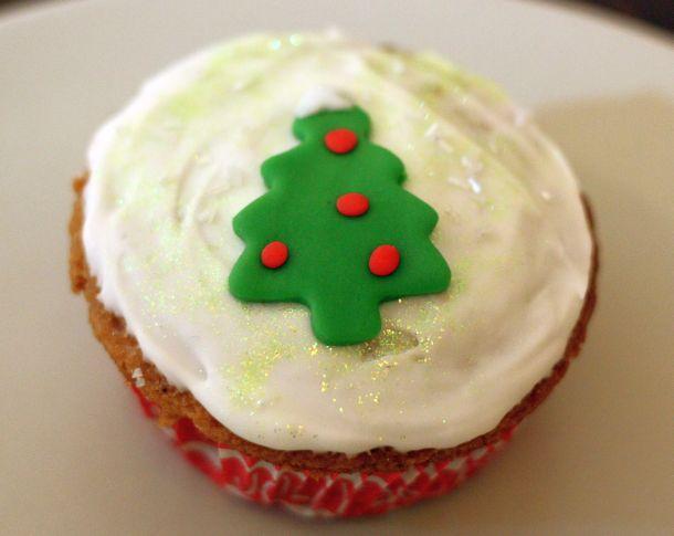 Cupcake Sapin de Noël blog de cuisine Over-Cookée