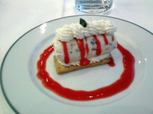 dessert glacé du restaurant Ferrandi