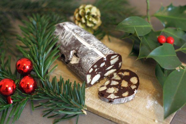 Recette du Saucisson au chocolat, beurre salé et piment d'espelette