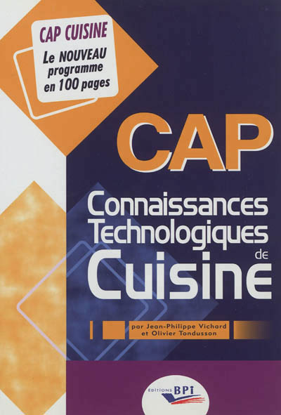 Livre théorie CAP cuisine
