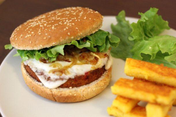 Hamburger végétarien fromage de chèvre