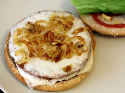 hamburger oignons caramélisés