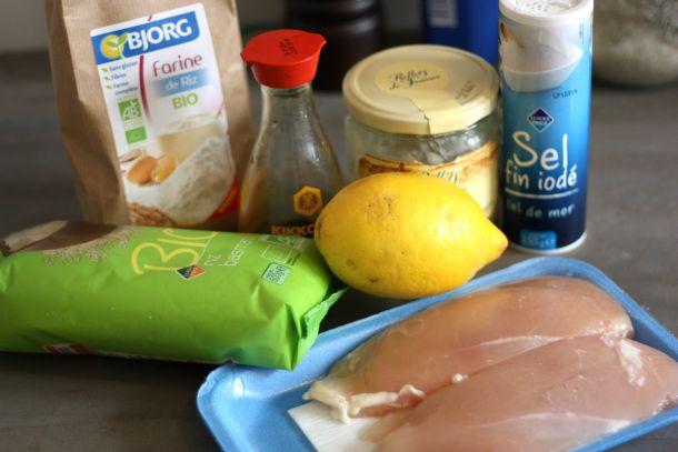 Ingrédients poulet au citron