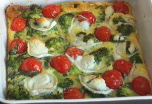 clafouti brocoli cuit