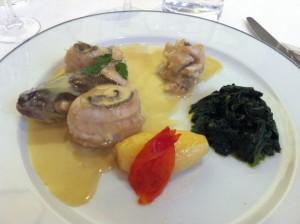 Plat de poisson restaurant d'application Ferrandi